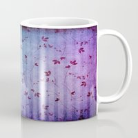 floral pattern Mugs featuring FLORAL PATTERN by VIAINA
