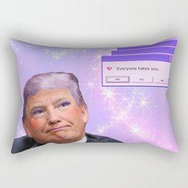 Kawaii Trump - Everyone Hates Me Rectangular Pillow
