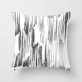 Modern Stripes Gray Throw Pillow