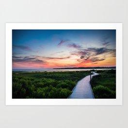 Chincoteague Island Sunset Art Print