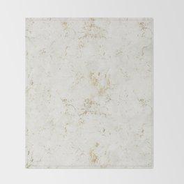White & Gold Marble Throw Blanket