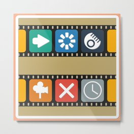 Illustrations icons sets with new modern flat design Metal Print