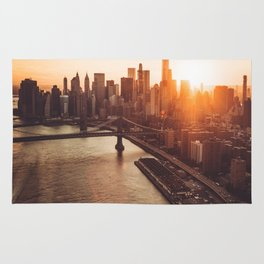 nyc aerial view Rug