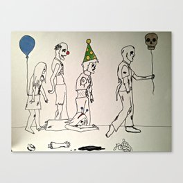 Zombies on Parade Canvas Print