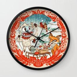Golly Jolly Holly Wall Clock