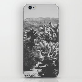 Chollo Cactus Garden (Black + White) iPhone Skin