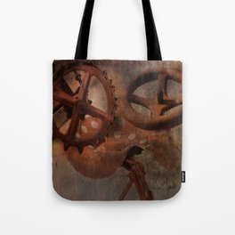 Rusty Farm Implements Tote Bag