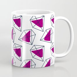 Contrast violet hexagons Coffee Mug