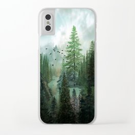 Mountain Morning 2 Clear iPhone Case