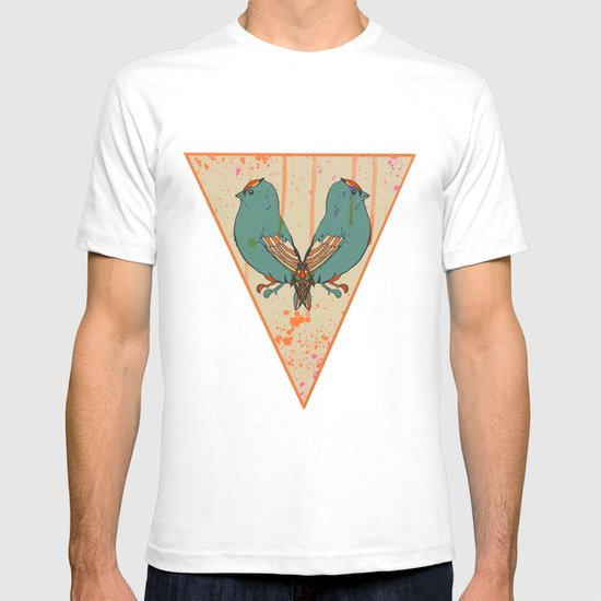 CATS AND BIRDS T-shirt