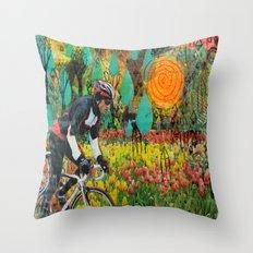 Through the Tulips Throw Pillow