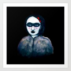 Carnival Lady Art Print
