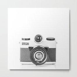 Vintage Camera: Fujipet Square Metal Print