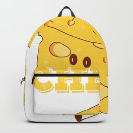 Funny Cheese T-Shirt for people who are addicted to cheese Gouda Buttercheese yellow  Backpack