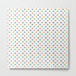 Colorful Dot Squares. 80s Comeback Metal Print