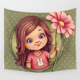 A flower for you Wall Tapestry