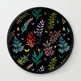Leaf collection Wall Clock