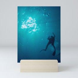 Deep sea diver Mini Art Print