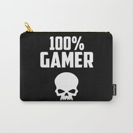 gamer logo and quote Carry-All Pouch