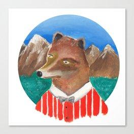 Fox of Lion Canvas Print