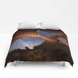 Double Arch in Arches National Park 2 Comforters