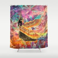 egyptian Shower Curtains featuring Egyptian Goddess by Ultraviolet
