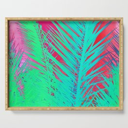 Funky palm leaves Serving Tray