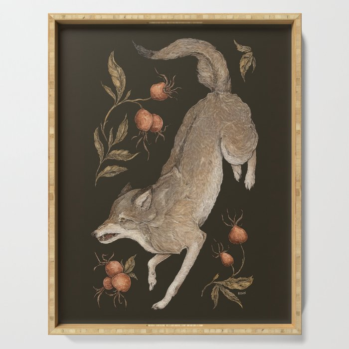 The Wolf and Rose Hips Serving Tray