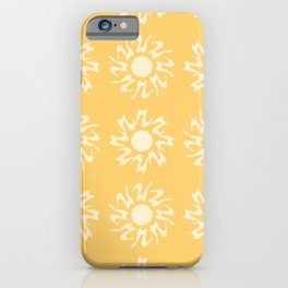 Happy Sunny Pattern iPhone Case
