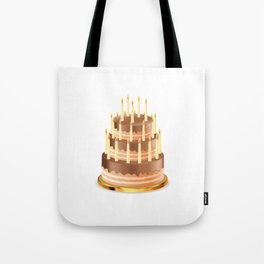 Big chocolate cake Tote Bag