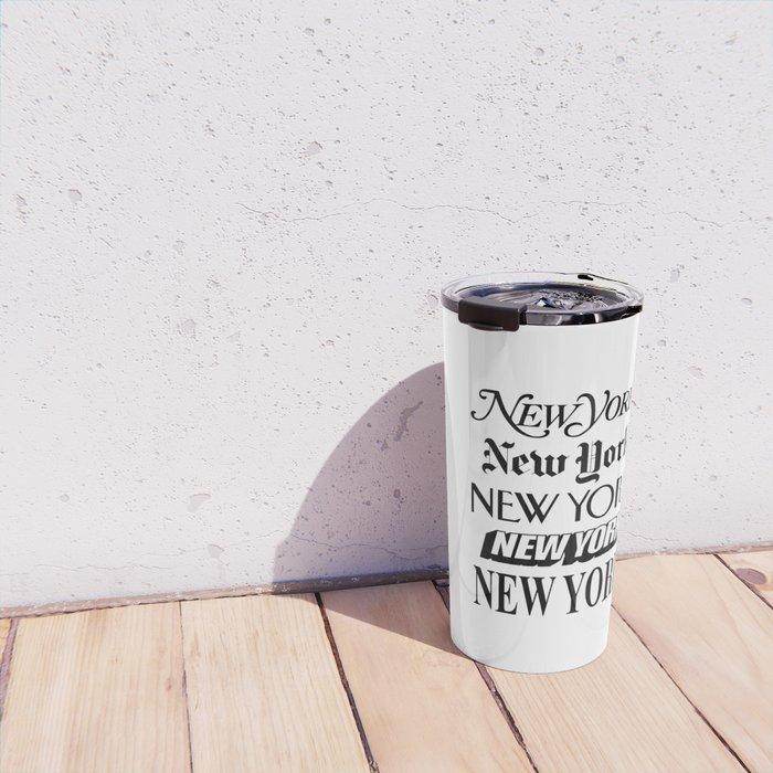 I Heart New York City Black and White New York Poster I Love NYC Design black-white home wall decor Travel Mug