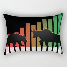 Bear VS Bull Stock Exchange Money Profit Shareholder Share Gift Rectangular Pillow
