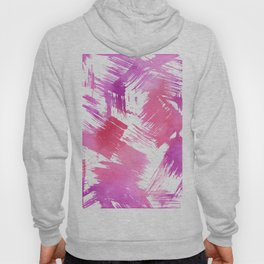 Hand painted pink purple watercolor brushstrokes pattern Hoody