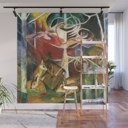 """Franz Marc """"Deer in the Forest I"""" Wall Mural"""