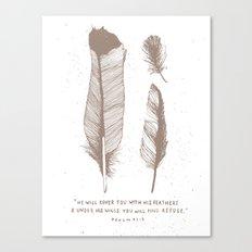 29/52: Psalm 91:4  Canvas Print