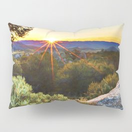 Sage Mountain Sunset Pillow Sham