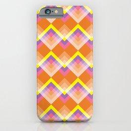 Yellow & Purple Chevron iPhone Case
