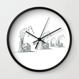 Snail Rout Wall Clock