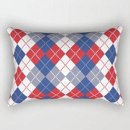 Patriotic Argyle Rectangular Pillow