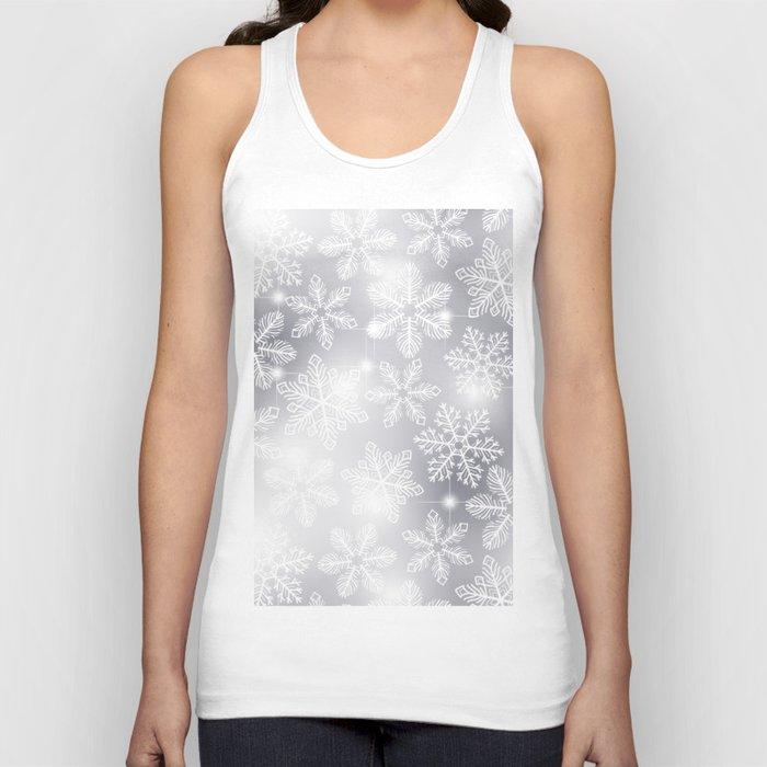 Snowflakes and lights  Unisex Tanktop