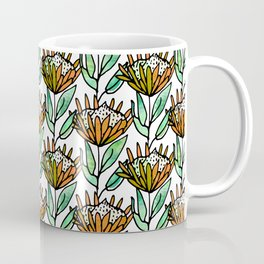 Modern Floral Protea Orange #homedecor Coffee Mug