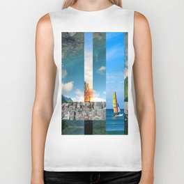 City through the Lake Biker Tank