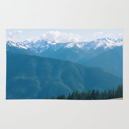 Deers on the Mountain Rug