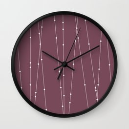 Contemporary Intersecting Vertical Lines in Mulberry Wall Clock
