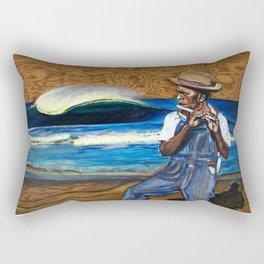 """The Pied Piper Of Stradbroke"" Rectangular Pillow"