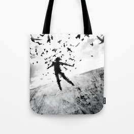 Birds in the head Tote Bag