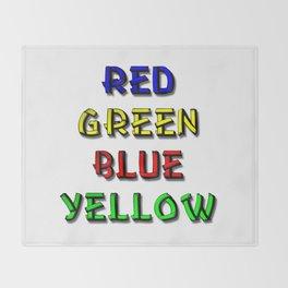 Red Green Blue Yellow Brain Teaser Throw Blanket