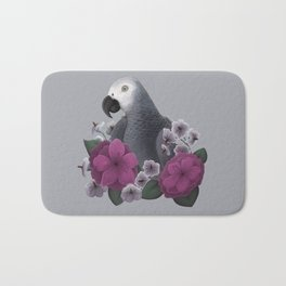 African Grey Bath Mat