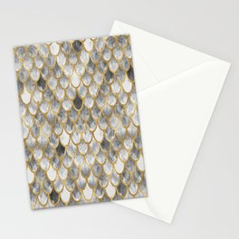 Marble Mermaid Scales Stationery Cards