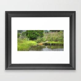 Marsh Boat Framed Art Print